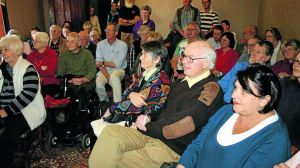 STANDING ROOM ONLY: More than 60 people attended the special meeting to decide Rylstone District Historical Society's future at a special meeting on Saturday.