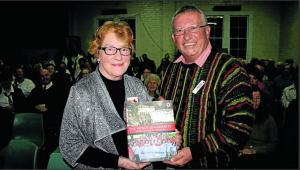 "Following his address on the connection Red Cross had to Australia Day 1915 and fundraising over the last 100 years, John Pocius Manager of the Greater Western Area of the Red Cross Society presented Helen Marsonet with the book ""The Power of Humanity"" celebrating 100 years of Red Cross from 1914 to 2014."