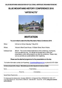Blue Mountains History Conference Invitation No 2-page-001